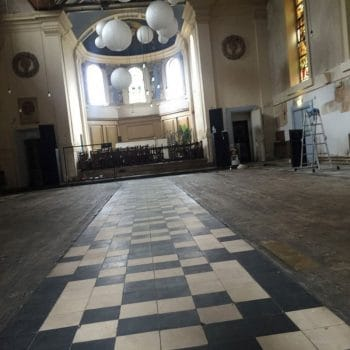 All existing flooring had to be removed as it was damaged